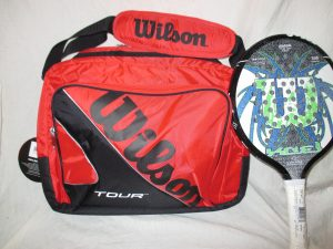 Wilson Perfect Paddle Tennis Bagshown with paddle