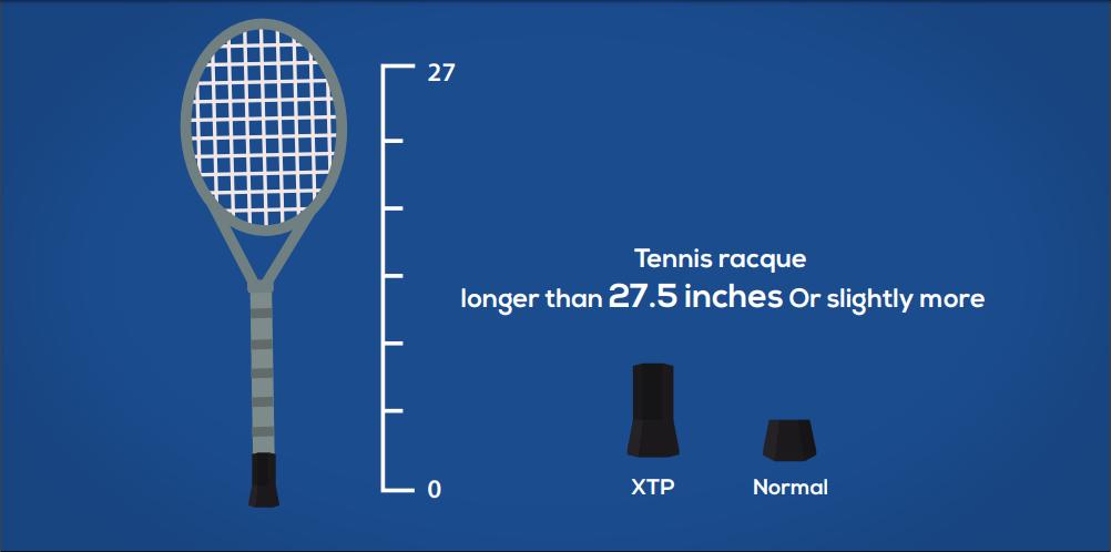 Extended Tennis Butt cap.